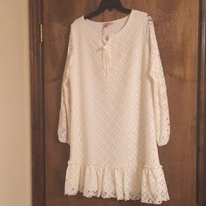 Gibson Latimer Cream Lace Dress